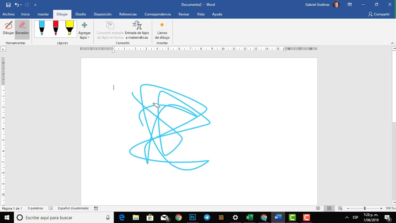 Dibujar En Word 2019 Principiantes Youtube