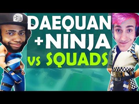 DAEQUAN & NINJA DESTROY SQUADS | HIGH KILL INSANE GAME - (Fo