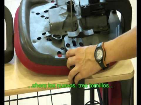 Como cambiar los brazos de una silla de oficina. - YouTube