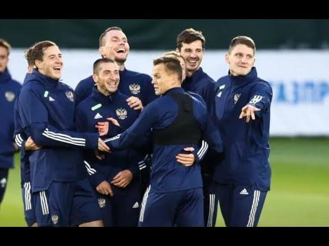 После победы над Словенией игроки Сборной РФ спели песню в честь Карпина