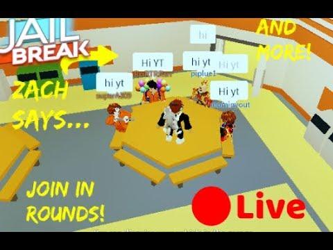 Roblox Jailbreak mini games!Friending day is tomorrow!🔴 Jailbreak Vip  server   LIVE🔴