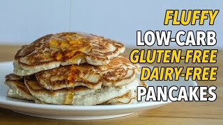 Ultimate Low-Carb, Gluten Free, Dairy Free Pancakes / Panqueques Bajos en Carbohidratos