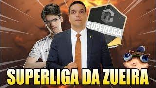 GANK DO DACIOLO E MAYNAH TROLLANDO A TRANSMISSÃO - SUPERLIGA DA ZUEIRA