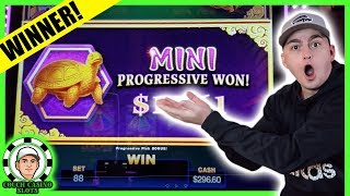 I HIT FREE SPINS ON THE SLOT MACHINE FU NAN FU NU AT THE CASINO!!