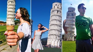 Most Creative Tourist Photos Of The Leaning Tower Of Pisa Plus 3D Virtual Tour Via Google Earth
