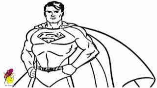 How to draw Superman from Superman Series