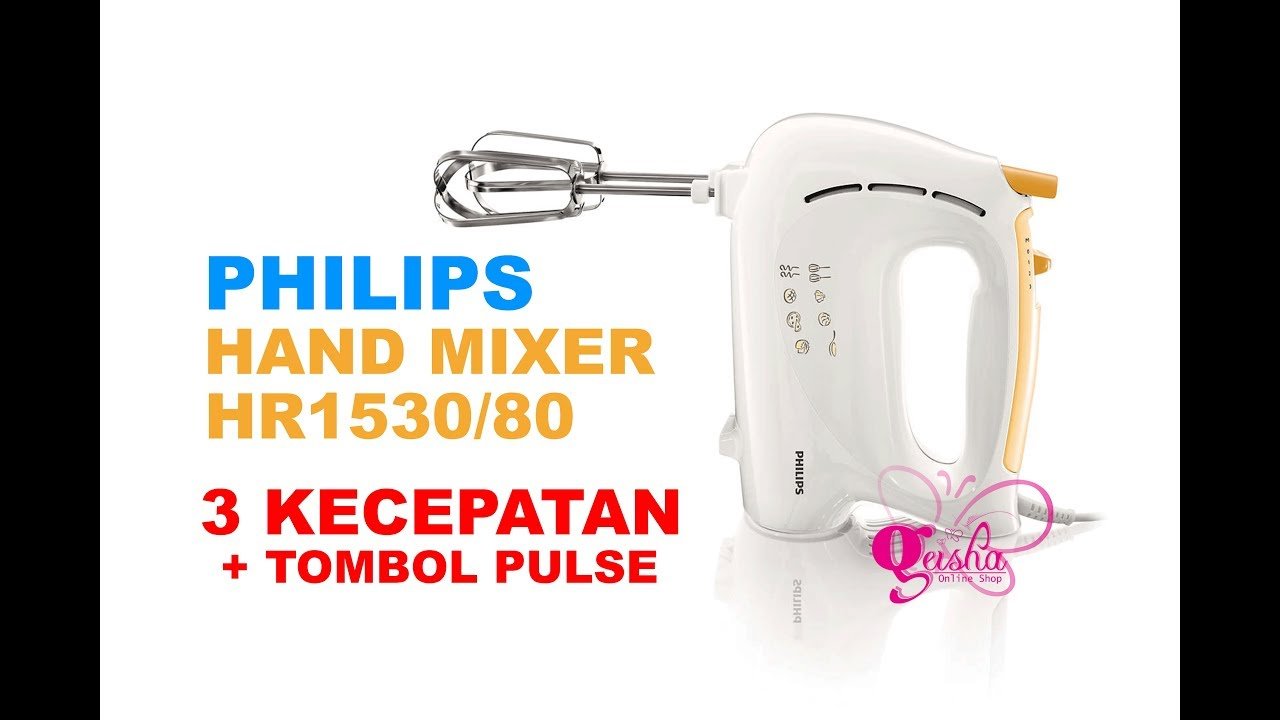 Philips Hand Mixer Hr1530 Unboxing Review Indonesia Youtube
