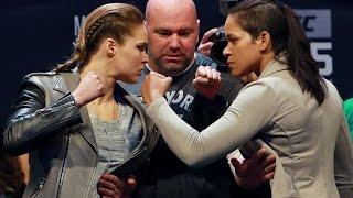 UFC 207: Ronda Rousey vs. Amanda Nunes Staredown!