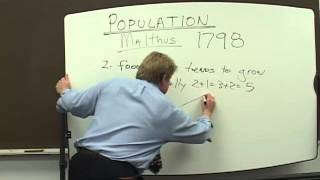 Population:  Thomas Malthus 1798