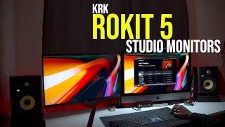 KRK ROKIT 5 (Gen 4) Studio Monitors Overview and Audio Demo