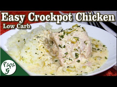 Easy Crockpot Chicken – Low Carb Keto Slow Cooker Chicken Recipes