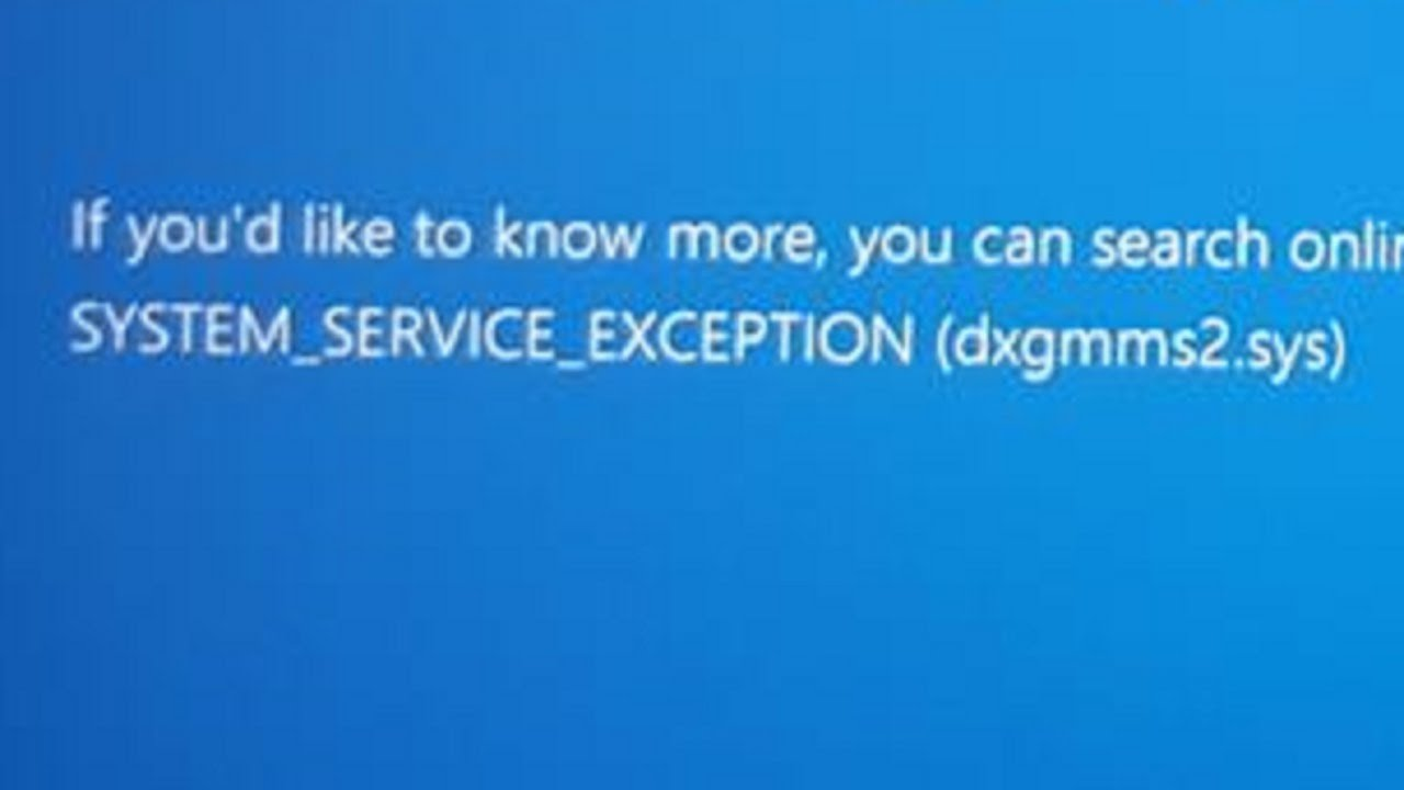 SYSTEM SERVICE EXCEPTION error in Windows 10 [COMPLETE GUIDE]