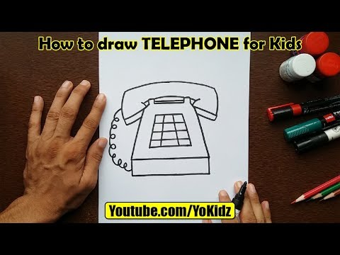 How To Draw TELEPHONE For Kids