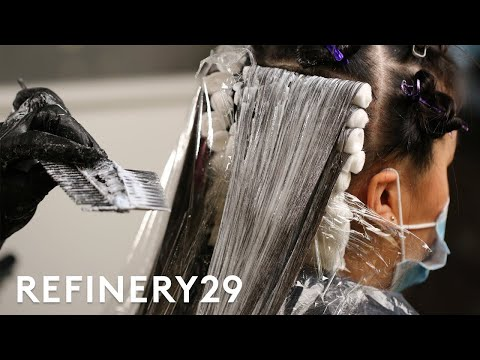 What Bleaching Does To Your Hair Up Close   Macro Beauty   Refinery29