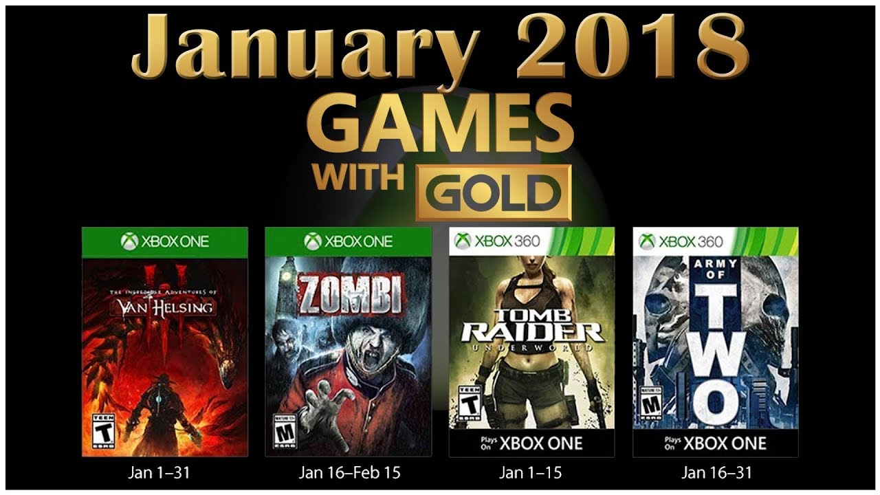 Xbox Games With Gold January 2020.Xbox Live Games With Gold January 2018