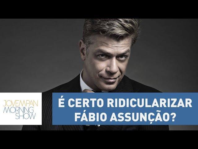 É certo ridicularizar Fábio Assunção? Entenda a polêmica envolvendo o ator | Morning Show