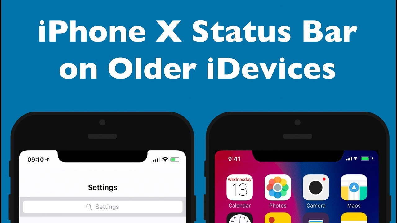 iphone status bar get iphone x status bar on idevices phim22 5855