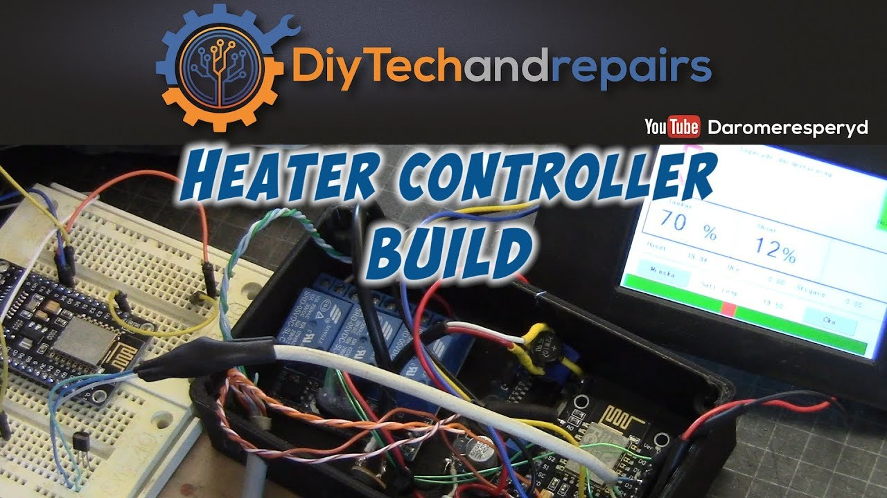Heater system build DIY - ESP8266 and MQTT pt4 - YouTube