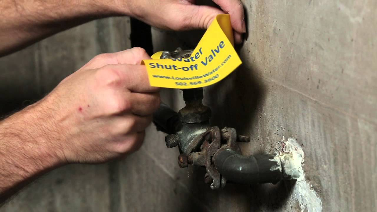 Water Shut Off Valve: How to locate, tag and test it - YouTube