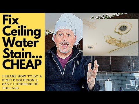 How To Fix A Water Stain On The Ceiling... CHEAP