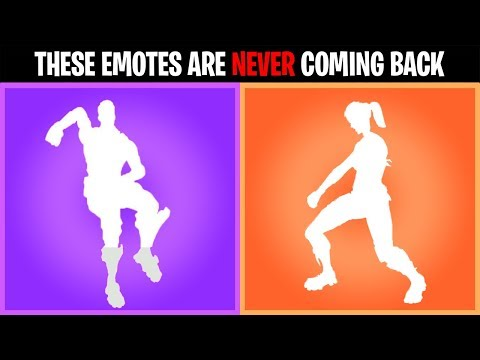 THESE EMOTES That have NEVER RETURNED to the ITEM SHOP! Fortnite Battle Royale