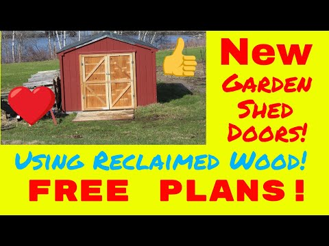 New Garden Shed Doors (FREE PLANS!)