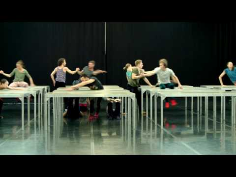 ONE FLAT THING, REPRODUCED by William Forsythe, dance by the DRESDEN FRANKFURT DANCE COMPANY