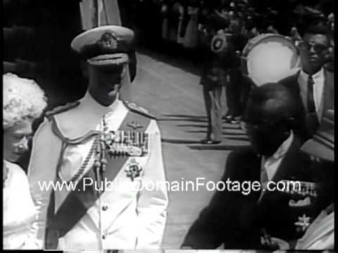 Queen Elizabeth visits Monrovia Liberia in Africa 1961 Newsreel PublicDomainFootage.com