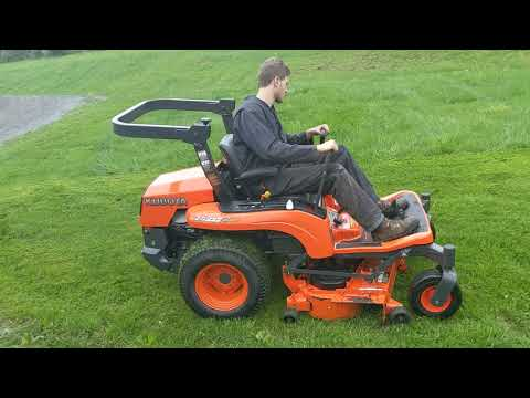 2009 Kubota ZG222 Zero Turn Lawn Mower For Sale: Mowing grass inspection!