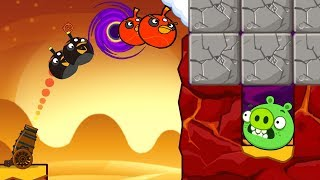 Angry Birds Collection Cannon 3 - BLAST ALL STONE TO HIT ALL PIGGIES GAMEPLAY!