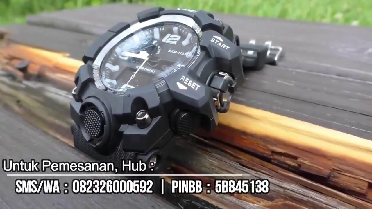 Skmei Ad1155 Original Jam Tangan Pria Mirip Casio Gshock Youtube G Shock Dobel Time Tahan Air Black