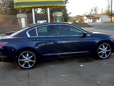 2008 Honda Accord On 20 S Youtube