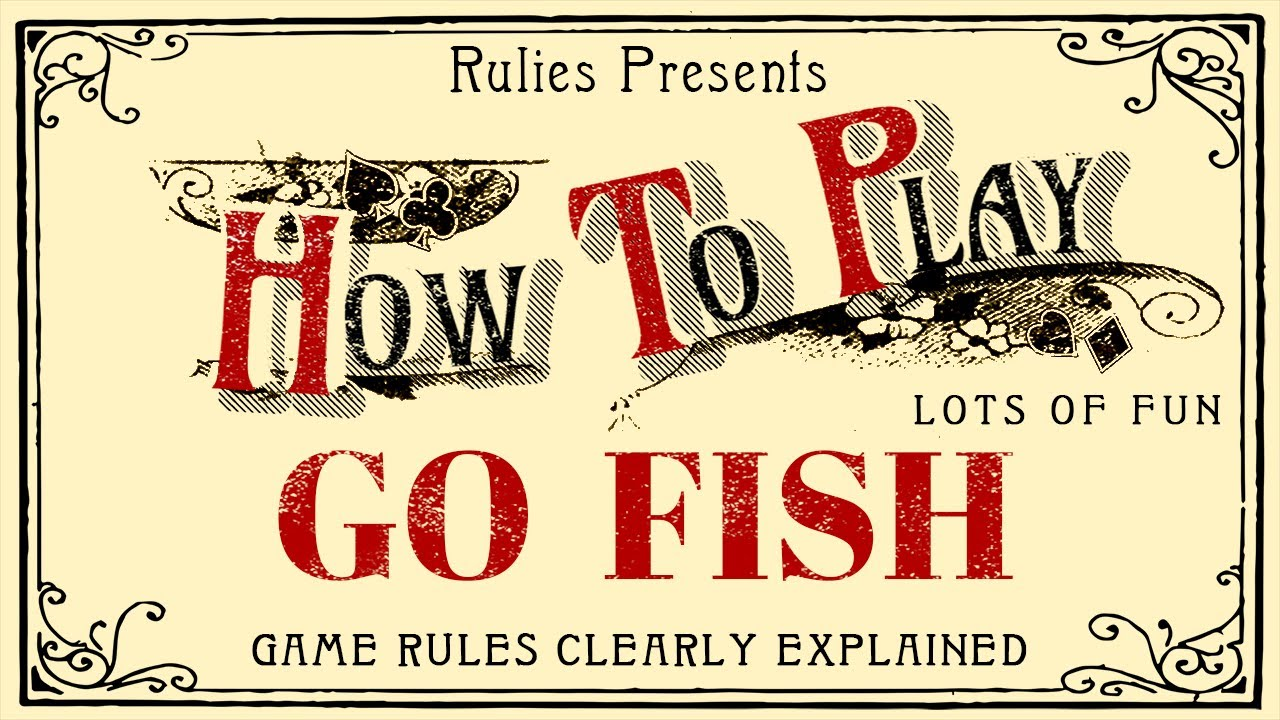 How To Play Go Fish Card Game For Kids Youtube