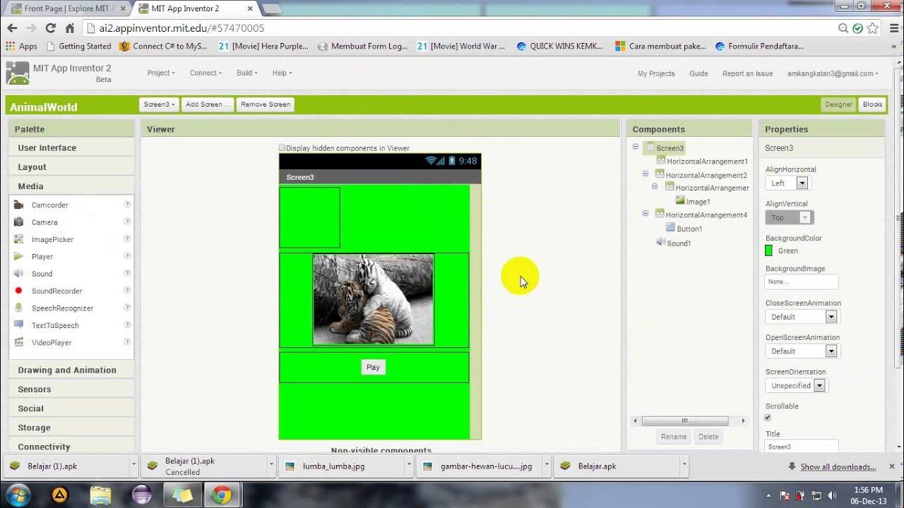 Video Membuat Aplikasi Android Sederhana Menggunakan App ...