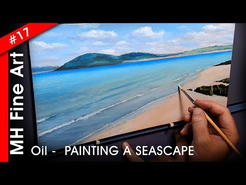 Artist Painting A Seascape In Oils – HOW STUNNING!