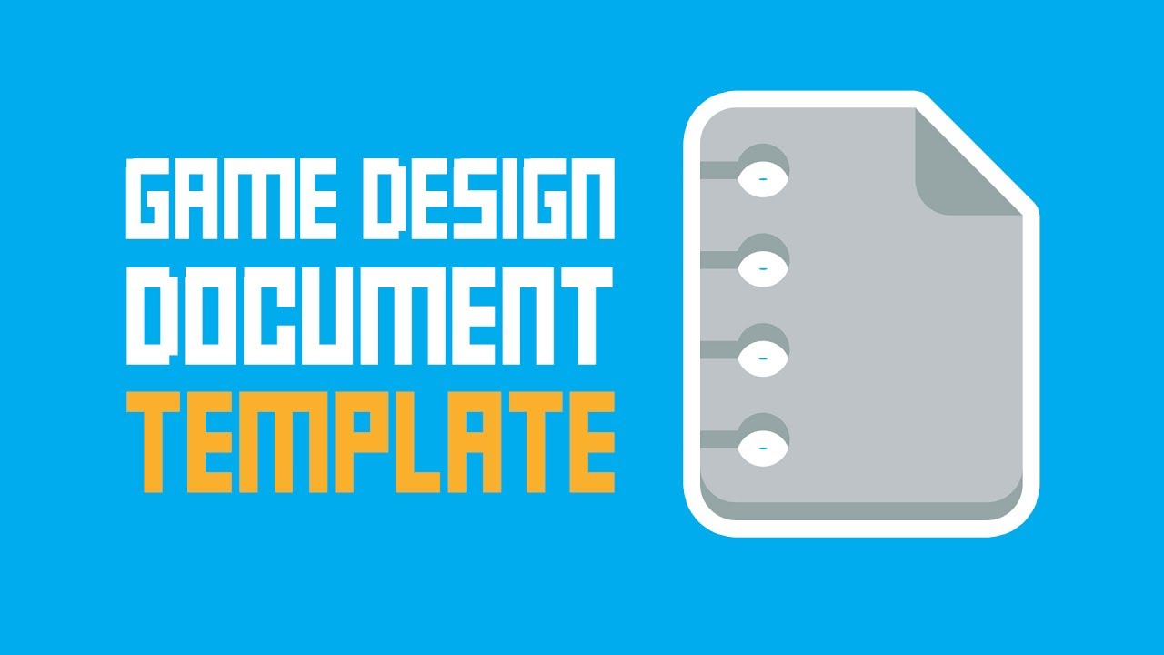 Game Design Document Template One Page Super Easy YouTube - Game design doc template