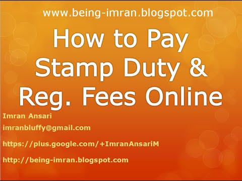 How To Pay Stamp Duty And Registration Fees Online Youtube