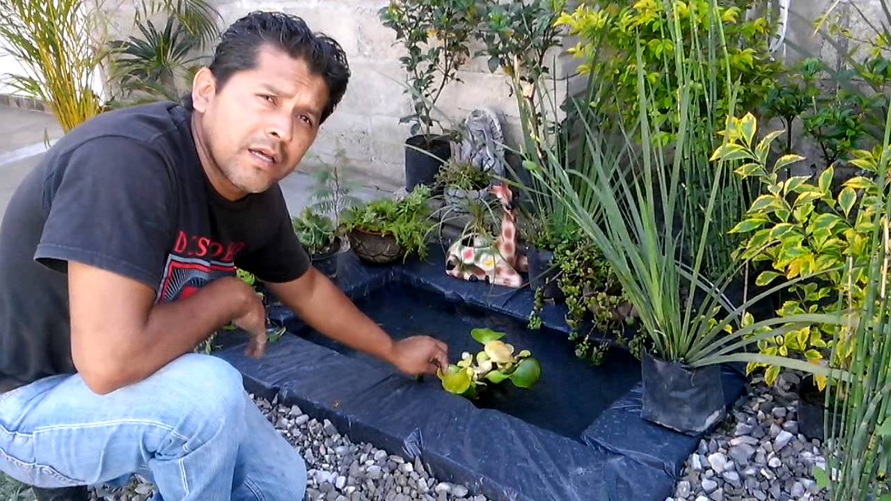Como hacer un lago artificial en tu casa youtube for Como construir una laguna artificial