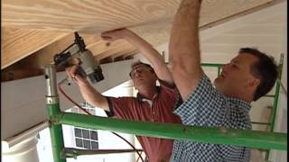 Laying Plywood for the Front Porch Ceiling