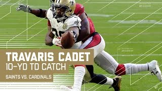 Larry Fitzgerald's Fumble Leads to Brees' TD Pass to Cadet! | NFL Week 15 Highlights