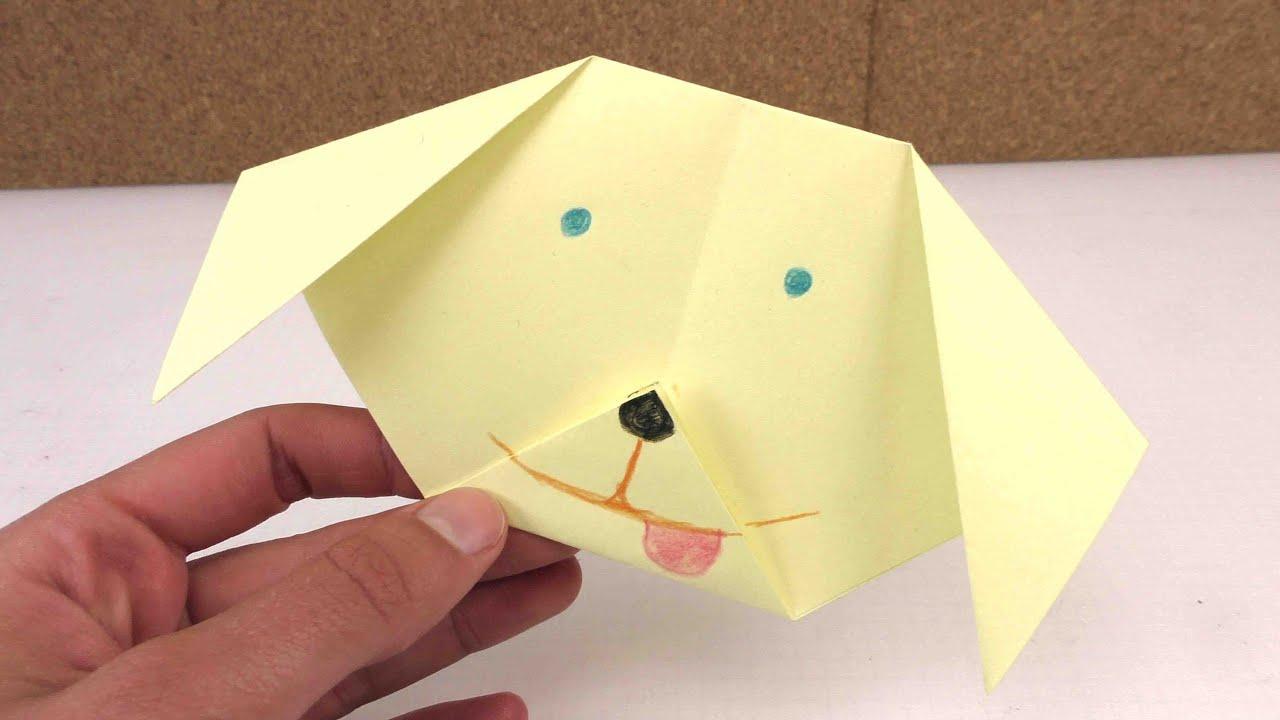 origami hund leicht selber machen ganz einfach einen doovi. Black Bedroom Furniture Sets. Home Design Ideas