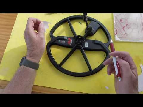 Repair of metal detector coil with broken ears