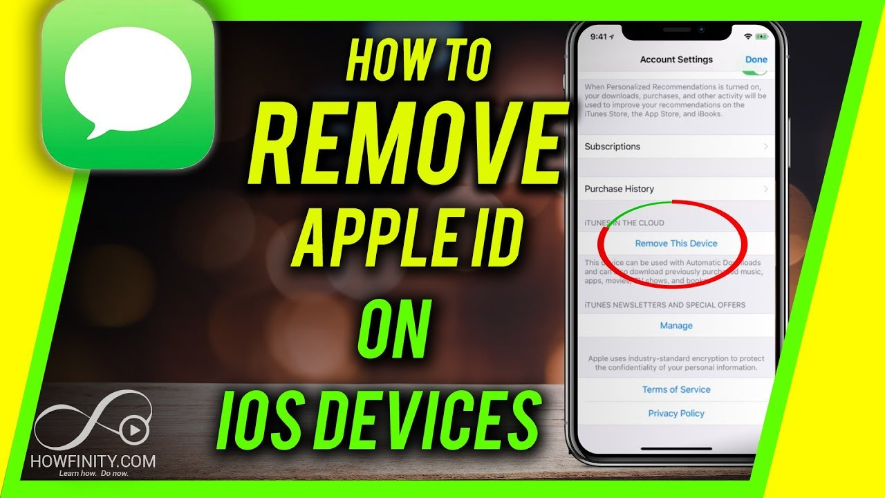 How to remove itunes account from ipad