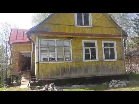 Замена фундамента деревянного дома из бруса на винтовые сваи под ключ в Санкт-Петербурге