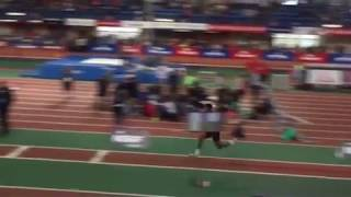 Derek Chalmers competes in the New Balance Nationals EE Long Jump 1...
