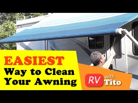 How To Tip Easiest Way Clean An RV Awning
