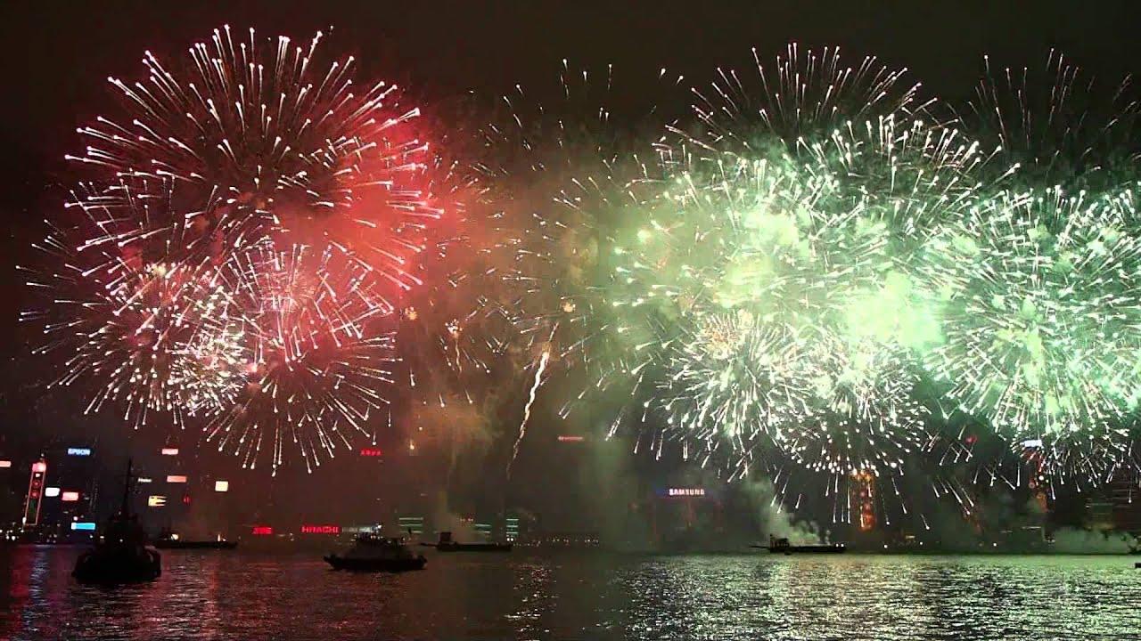2012 農曆新年煙花匯演 - YouTube