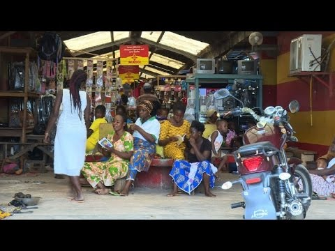 Ivorian hair salons filled with library books in cultural scheme