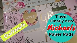 New Craftsmith paper pads at Michaels