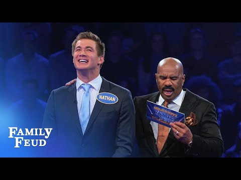 USA Swimmers go for GOLD! | Celebrity Family Feud